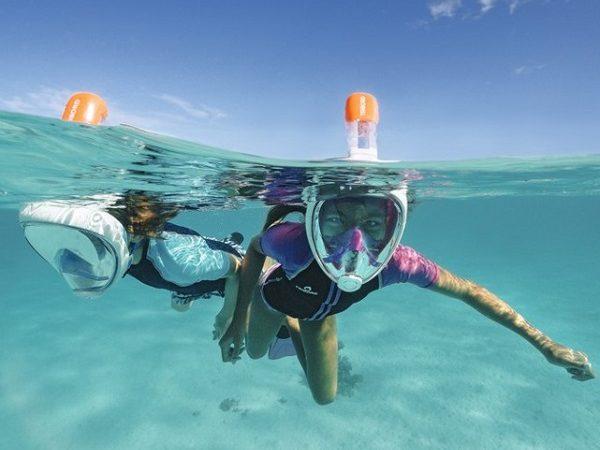 maschere snorkeling respirare sott'acqua