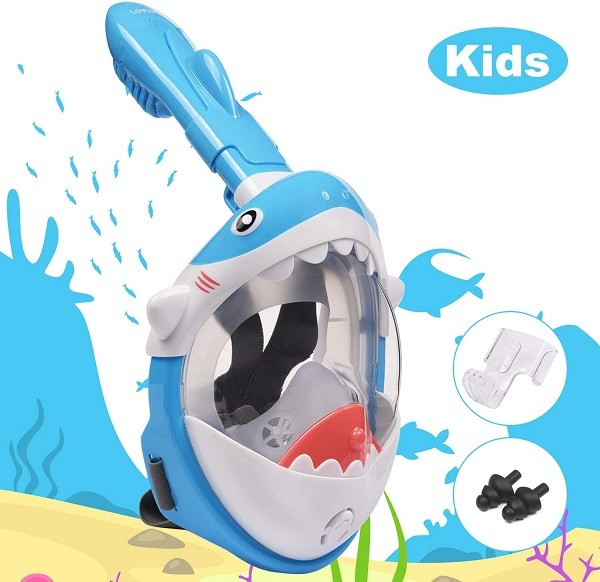 maschere snorkeling per bambini, maschere per ragazzi per respirare sott'acqua