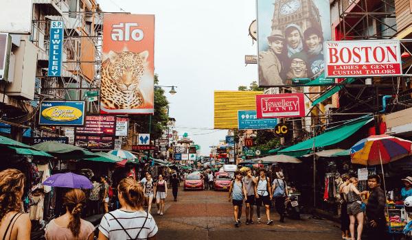 vedere khao san road a bangkok